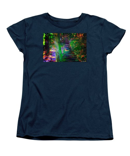 A Trek Women's T-Shirt (Standard Cut) by Iowan Stone-Flowers