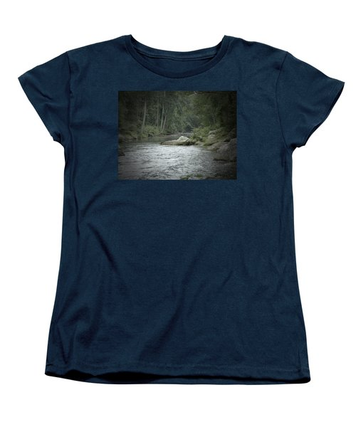 A View Downstream Women's T-Shirt (Standard Cut) by Donald C Morgan