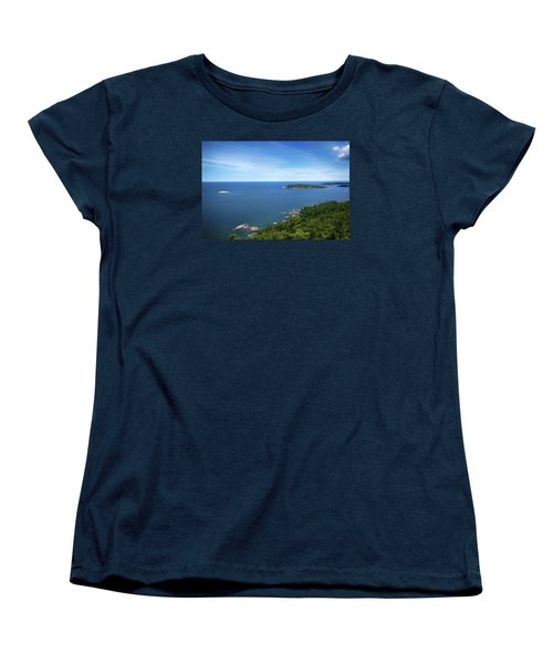 A View From Sugarloaf Mountain Women's T-Shirt (Standard Cut) by Dan Hefle