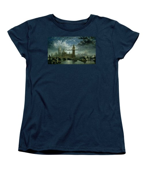 A View Of Westminster Abbey And The Houses Of Parliament Women's T-Shirt (Standard Cut) by John MacVicar Anderson
