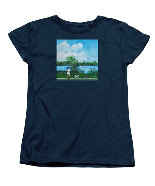 A Walk Along The River Women's T-Shirt (Standard Cut) by Reb Frost