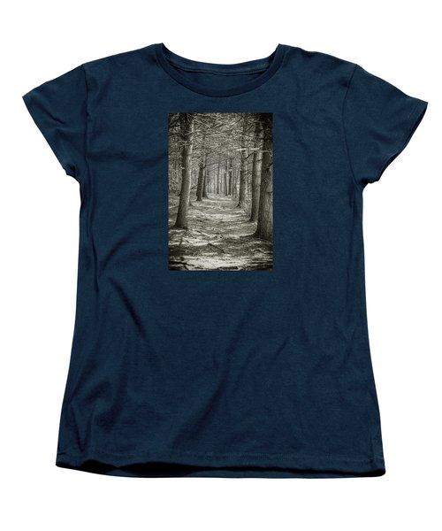 Women's T-Shirt (Standard Cut) featuring the photograph A Walk In Walden Woods by Ike Krieger