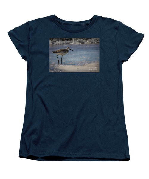 A Walk On The Beach Women's T-Shirt (Standard Cut) by Marvin Spates
