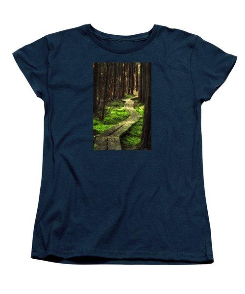 Women's T-Shirt (Standard Cut) featuring the photograph A Walk Through The Bog by Robert Clifford
