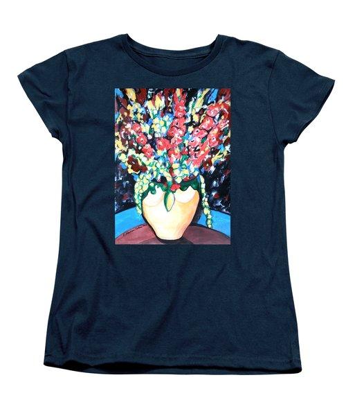 A Welcoming Bouquet Women's T-Shirt (Standard Cut) by Esther Newman-Cohen