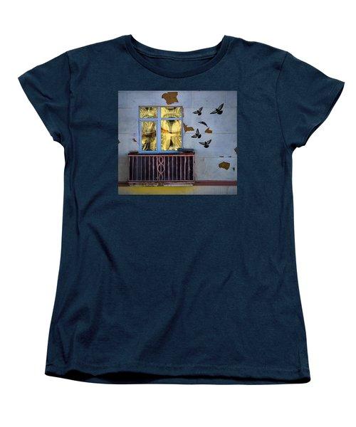 Women's T-Shirt (Standard Cut) featuring the photograph A Window by Vladimir Kholostykh