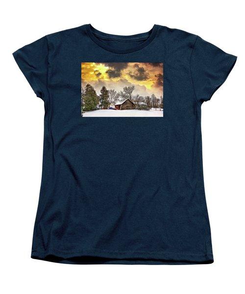 A Winter Sky Women's T-Shirt (Standard Cut) by Steve Harrington