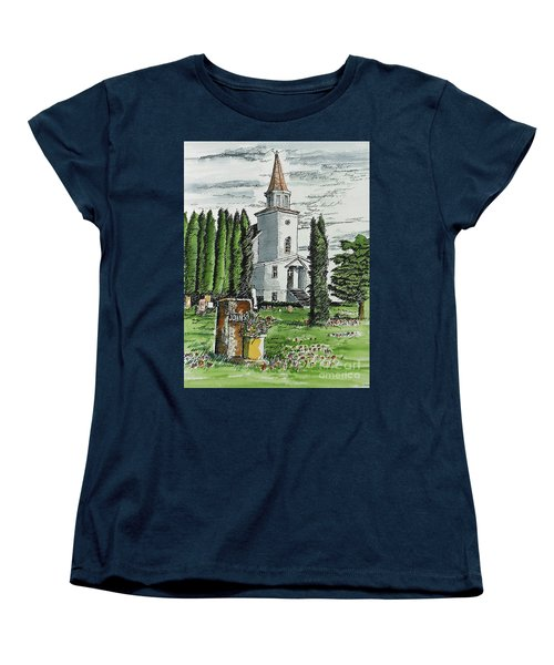 Women's T-Shirt (Standard Cut) featuring the painting A Wisconsin Beauty by Terry Banderas