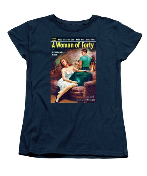 Women's T-Shirt (Standard Cut) featuring the painting A Woman Of Forty by Bernard Barton