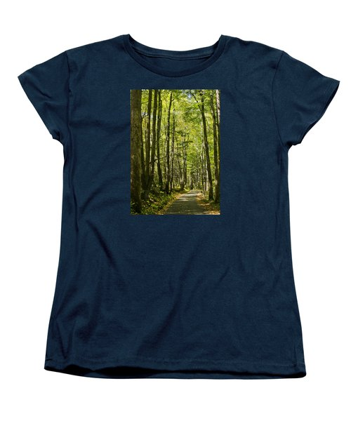 A Woodsy Trail Women's T-Shirt (Standard Cut) by Wanda Krack