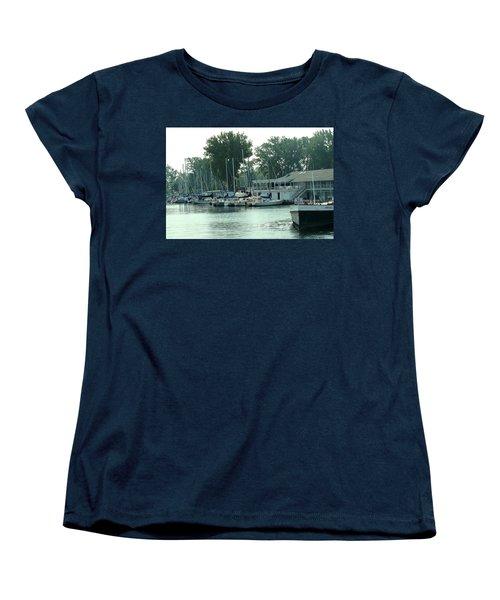 A Yacht Club Women's T-Shirt (Standard Cut) by Ian  MacDonald