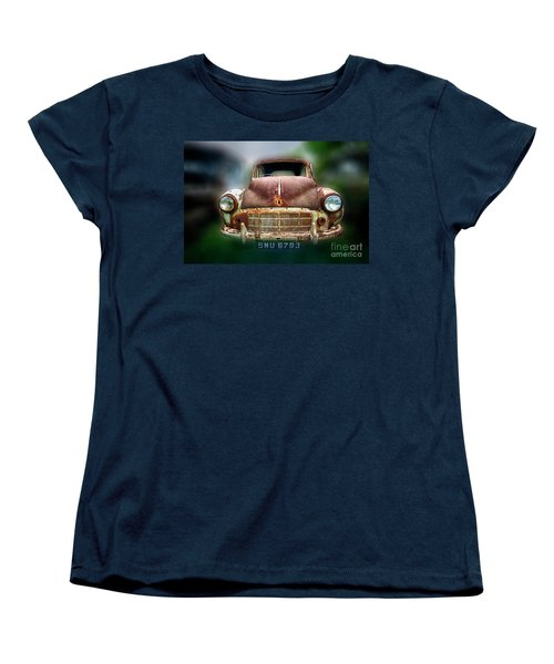 Women's T-Shirt (Standard Cut) featuring the photograph Abandoned Car by Charuhas Images
