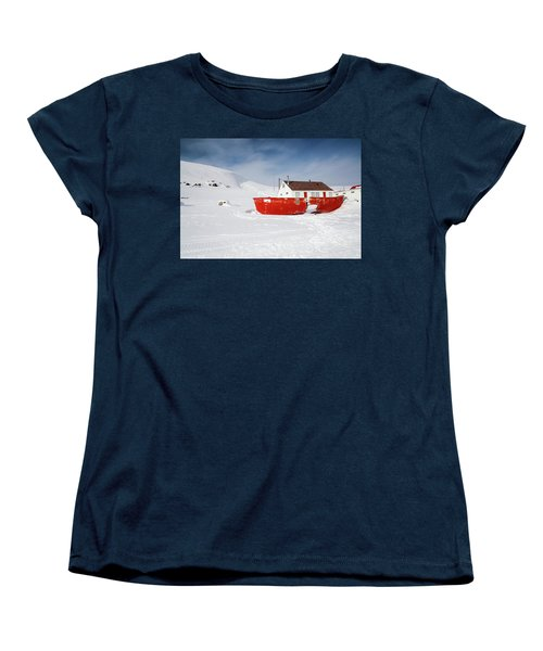 Abandoned Fishing Boat Women's T-Shirt (Standard Cut) by Nick Mares