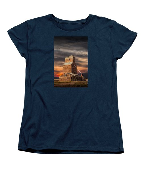 Abandoned Grain Elevator On The Prairie Women's T-Shirt (Standard Cut) by Randall Nyhof