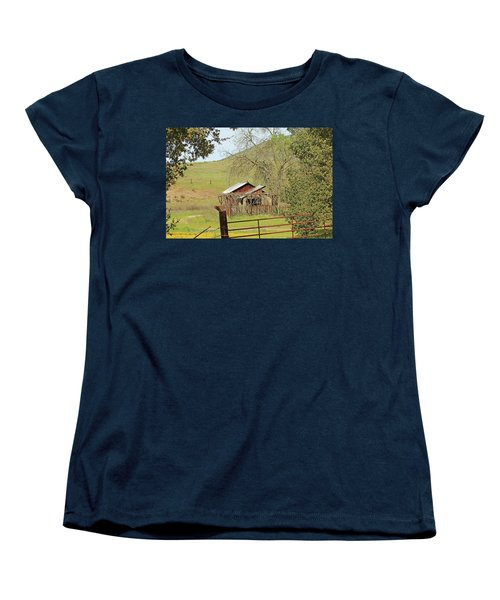 Women's T-Shirt (Standard Cut) featuring the photograph Abandoned Homestead by Art Block Collections