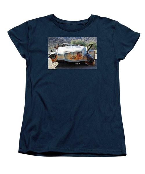 Women's T-Shirt (Standard Cut) featuring the photograph Abandoned Mojave Auto by Kyle Hanson