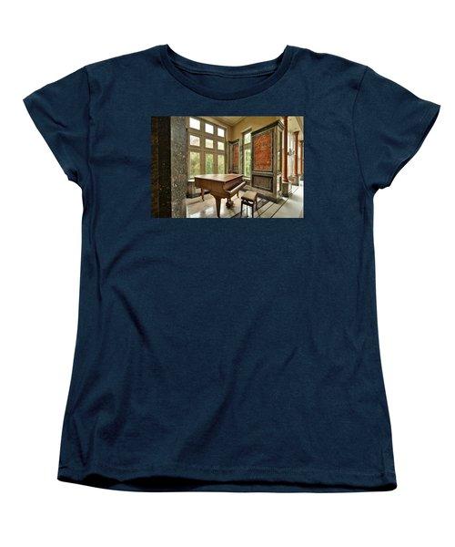 Abandoned Piano - Urban Exploration Women's T-Shirt (Standard Cut) by Dirk Ercken