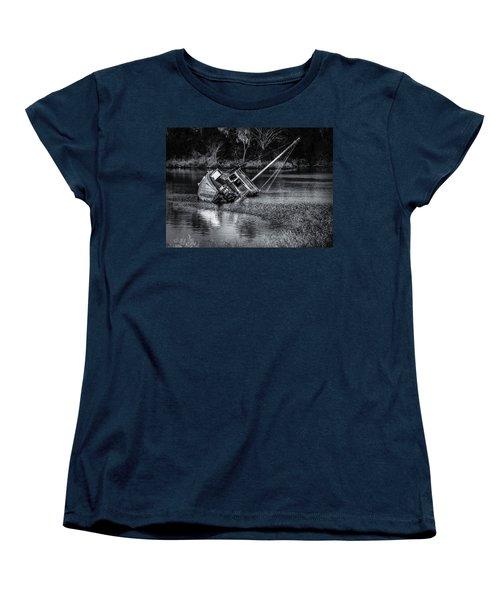 Abandoned Ship In Monochrome Women's T-Shirt (Standard Cut)