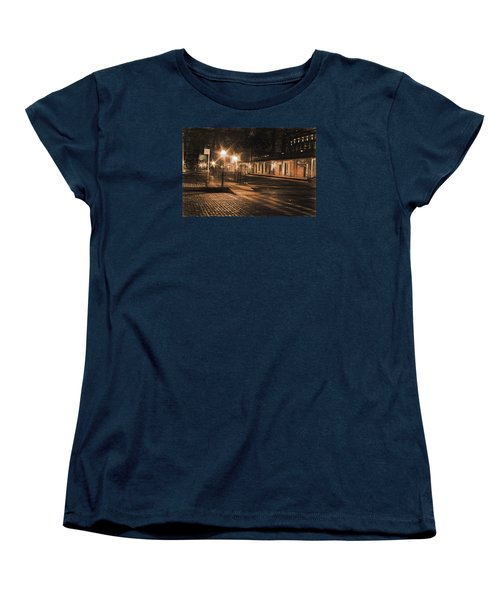 Women's T-Shirt (Standard Cut) featuring the photograph Abandoned Street by Michael Cleere