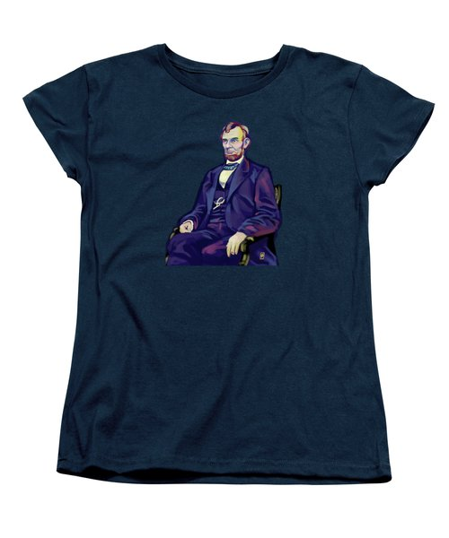 Women's T-Shirt (Standard Cut) featuring the drawing Abe by Rob Snow