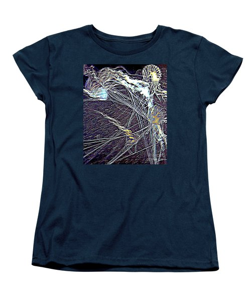 Women's T-Shirt (Standard Cut) featuring the photograph Aberration Of Jelly Fish In Rhapsody Series 1 by Antonia Citrino