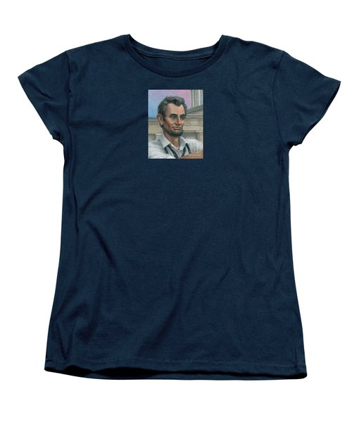 Abe's 1st Selfie - Detail Women's T-Shirt (Standard Cut) by Jane Bucci
