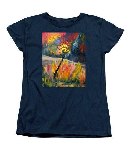 Ablaze Women's T-Shirt (Standard Cut) by Renate Nadi Wesley