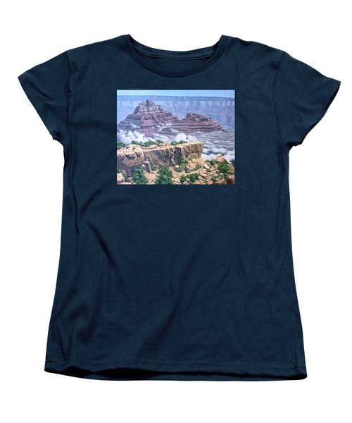 Above The Clouds Grand Canyon Women's T-Shirt (Standard Cut) by Jim Thomas