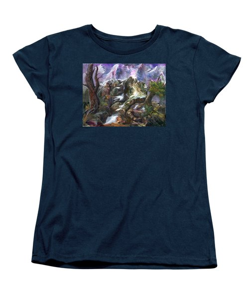 Women's T-Shirt (Standard Cut) featuring the painting Above The Timberline by Sherry Shipley