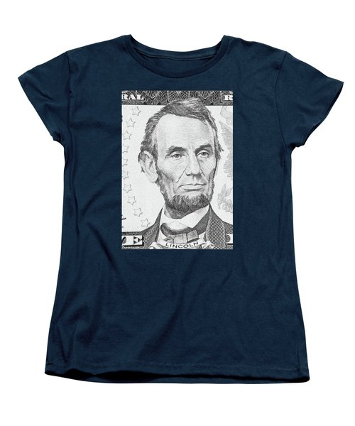 Women's T-Shirt (Standard Cut) featuring the photograph Abraham Lincoln by Les Cunliffe