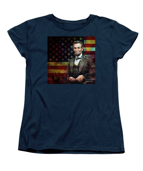 Abraham Lincoln The President  Women's T-Shirt (Standard Cut) by Gull G