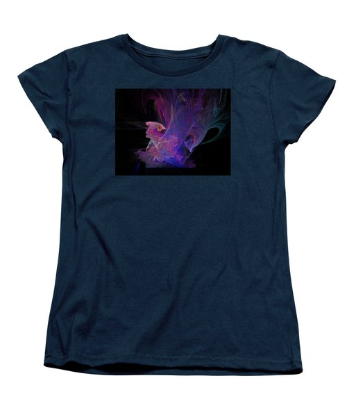 Abstact Pink Swan Women's T-Shirt (Standard Cut) by Tamara Sushko