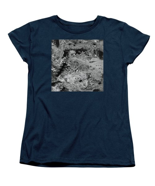 Abstract Acrylic Painting The Night Women's T-Shirt (Standard Cut) by Saribelle Rodriguez