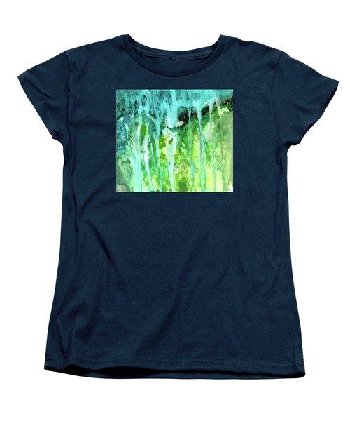 Abstract Art Waterfall Women's T-Shirt (Standard Cut) by Saribelle Rodriguez