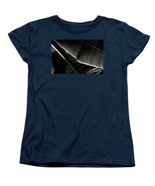 Women's T-Shirt (Standard Cut) featuring the photograph Abstract Banana Leaf by Yurix Sardinelly