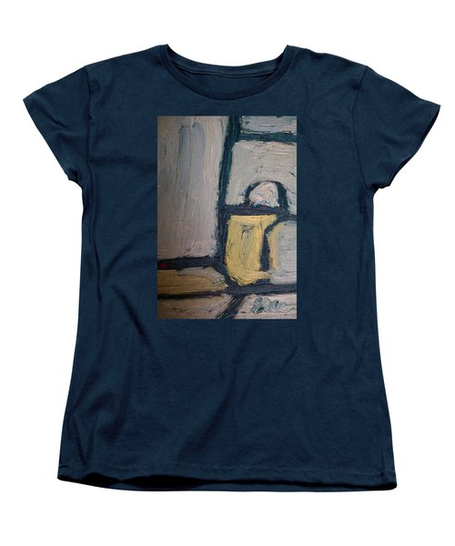 Abstract Blue Shapes Women's T-Shirt (Standard Cut) by Shea Holliman