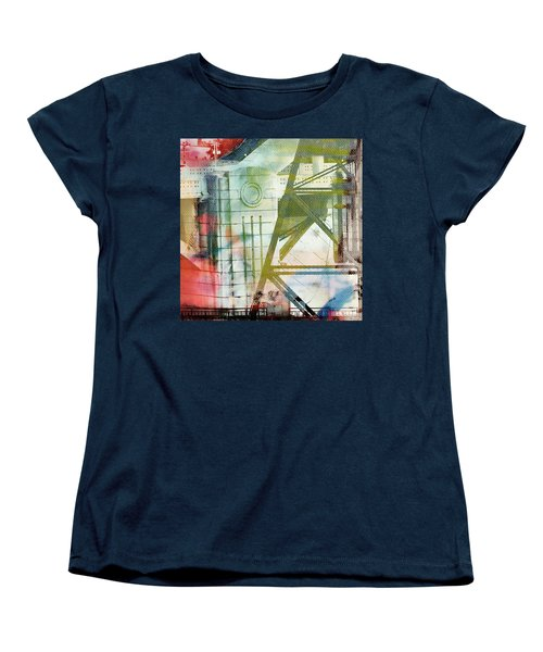 Abstract Bridge With Color Women's T-Shirt (Standard Cut) by Susan Stone
