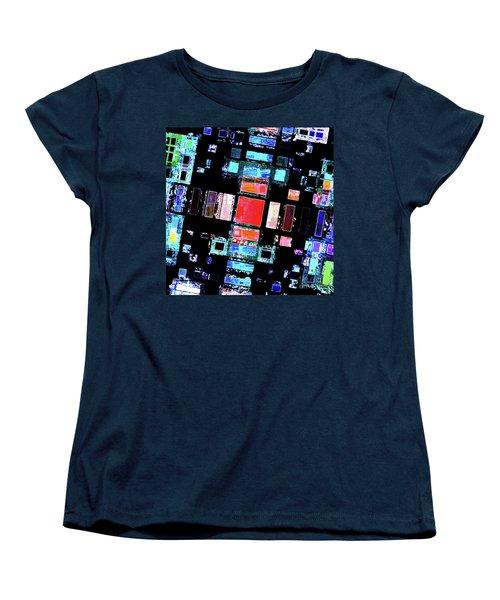 Women's T-Shirt (Standard Cut) featuring the digital art Abstract Geometric Art by Phil Perkins
