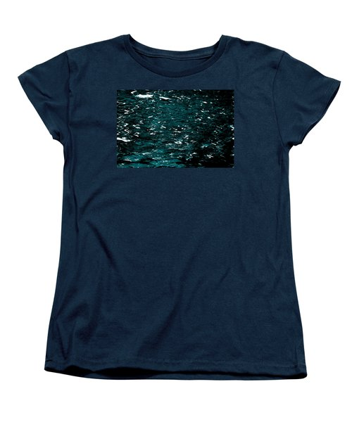 Women's T-Shirt (Standard Cut) featuring the photograph Abstract Green Reflections by Gary Smith