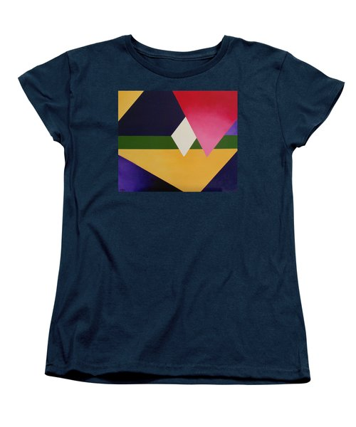 Women's T-Shirt (Standard Cut) featuring the painting Abstract by Jamie Frier