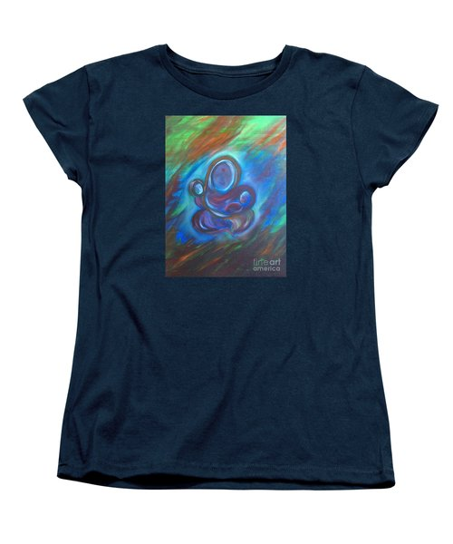 Women's T-Shirt (Standard Cut) featuring the painting Abstract Mother by Brindha Naveen