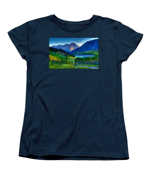 Abstract Mountain Vista  Women's T-Shirt (Standard Cut) by Anthony Fishburne