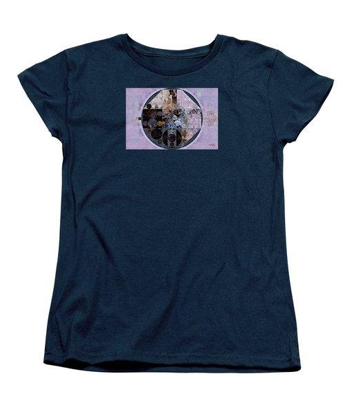Women's T-Shirt (Standard Cut) featuring the digital art Abstract Painting - Pastel Purple by Vitaliy Gladkiy