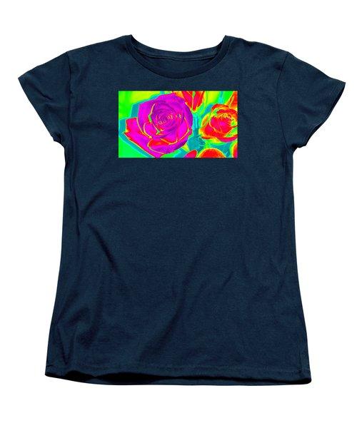 Abstract Roses Women's T-Shirt (Standard Cut) by Karen J Shine