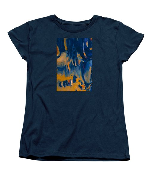 Women's T-Shirt (Standard Cut) featuring the painting Abstract Sail by Nop Briex