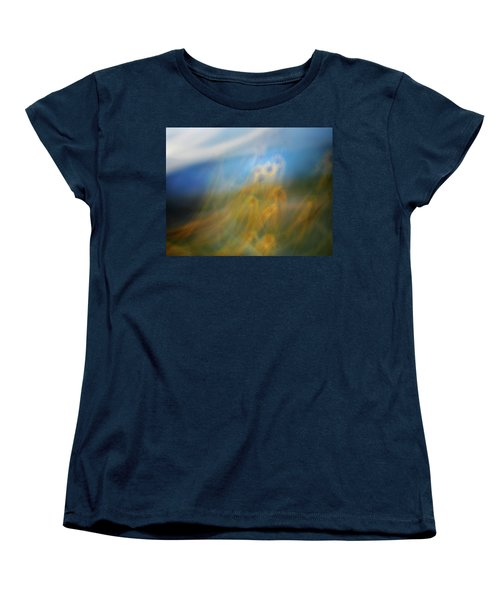 Women's T-Shirt (Standard Cut) featuring the photograph Abstract Sunflowers by Marilyn Hunt