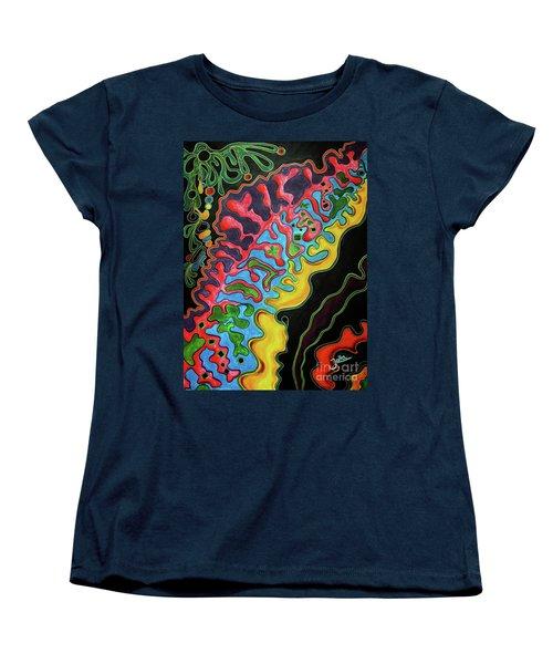 Women's T-Shirt (Standard Cut) featuring the painting Abstract Thought by Jolanta Anna Karolska