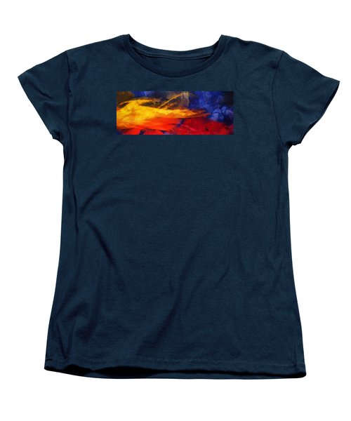 Abstract - Throw  Women's T-Shirt (Standard Cut) by Sir Josef - Social Critic -  Maha Art