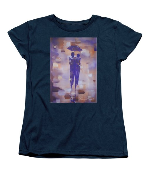 Abstract Walk In The Rain Women's T-Shirt (Standard Cut) by Raymond Doward