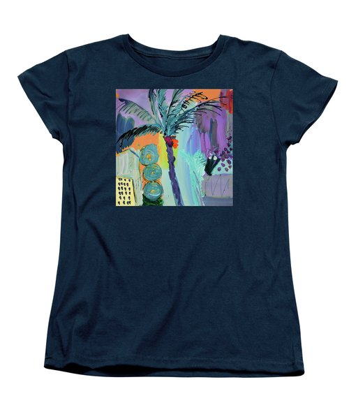 Abtract, Landscape With Palm Tree In California Women's T-Shirt (Standard Cut)